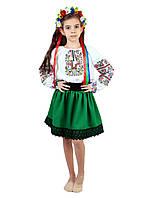 Дитяча спідничка габардинова зеленого кольору, фото 1