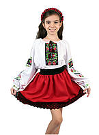 Дитяча спідничка габардинова червоного кольору, фото 1