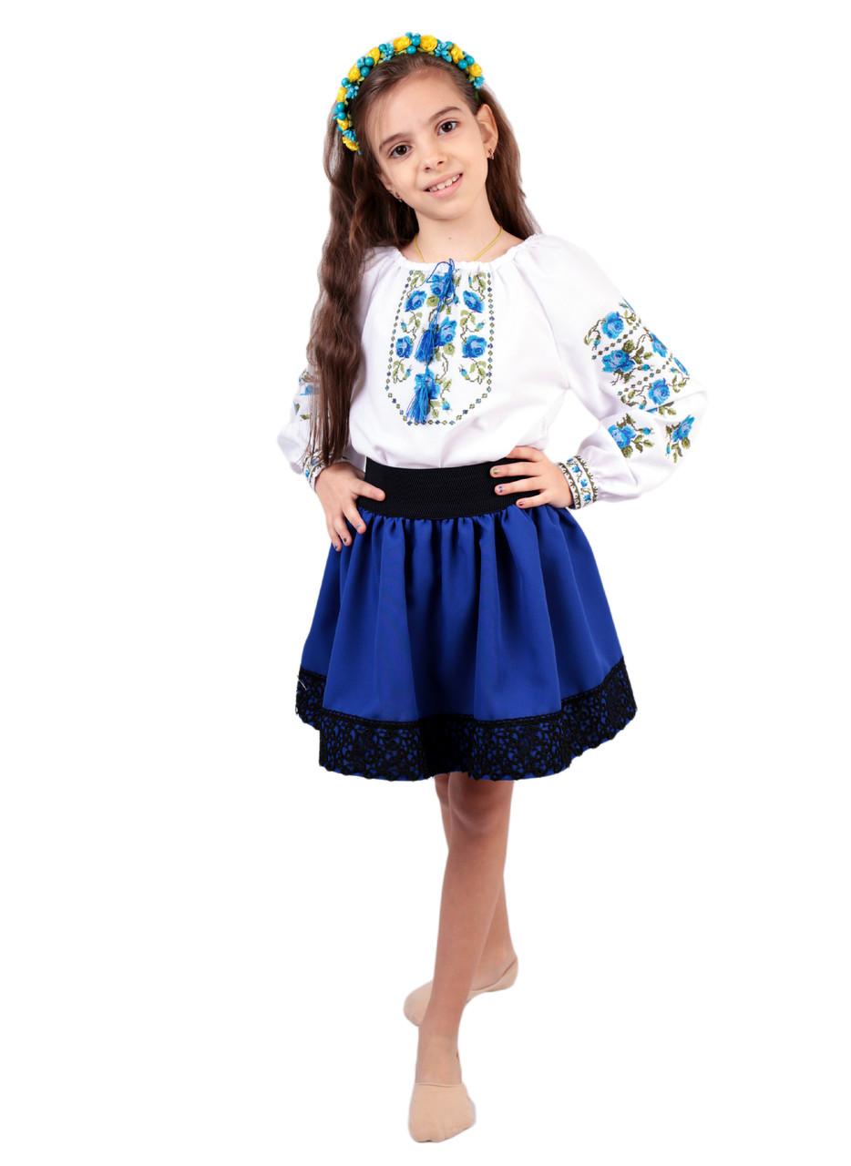 Дитяча спідничка габардинова синього кольору