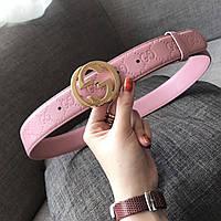 Женский кожаный ремень Gucci (Гуччи)