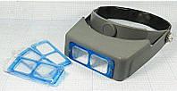 Лупа бинокулярная MG81007В налобная линза стекло 1.5Х 2Х 2.5Х 3.5Х