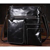 4ca64252b25c Стильная модная мужская кожаная сумка мессенджер ручной работы  темно-коричневый цвет шоколад