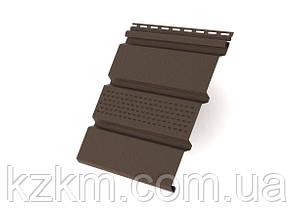 Соффит, софит, потолочный сайдинг коричневый перфорированный (Ренвей)