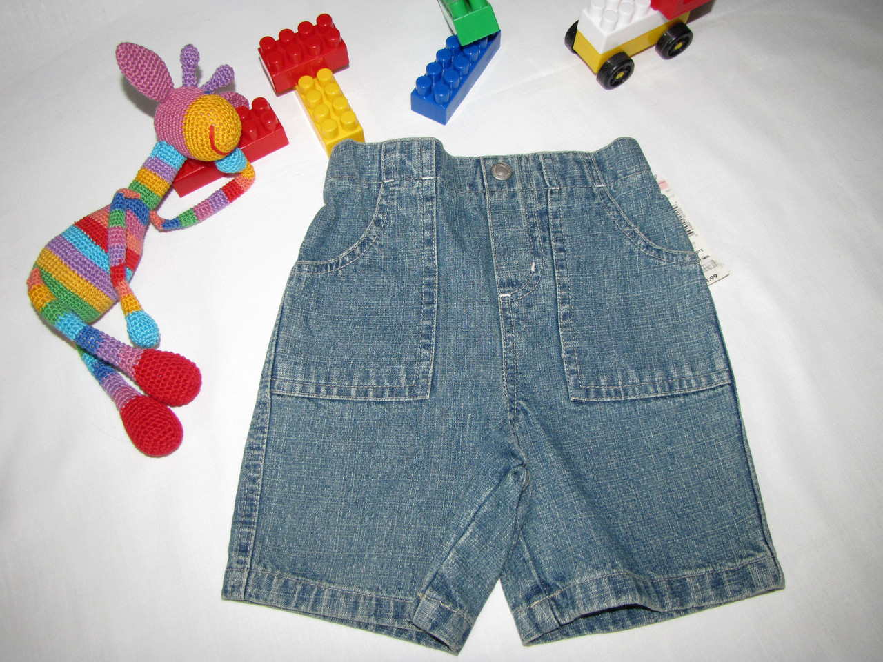Шорты джинсовые Wonder Kids оригинал рост 88 см синие 07170