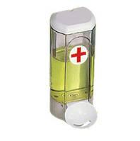 Дозатор мыла жидкого пластик прозрачный 0,8л с локтевым устройством Acqualba