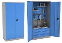 Металлический шкаф для инструментов двухстворчатый на заказ | Цена железного инструментального шкафа в Киеве