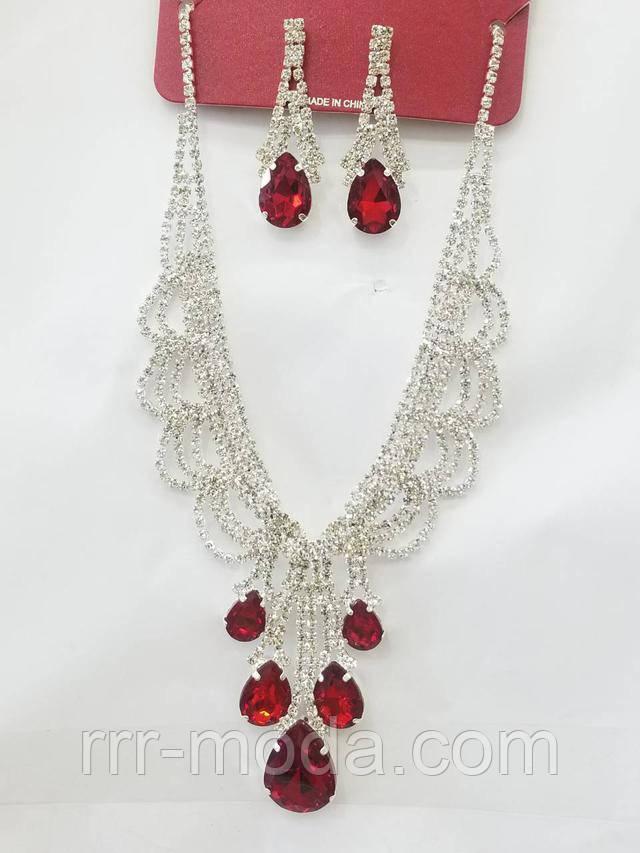 Вечерние комплекты серьги и ожерелье от бижутерии ррр.