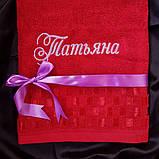 Полотенце с вышивкой любого цвета ! 50х90 см, фото 2