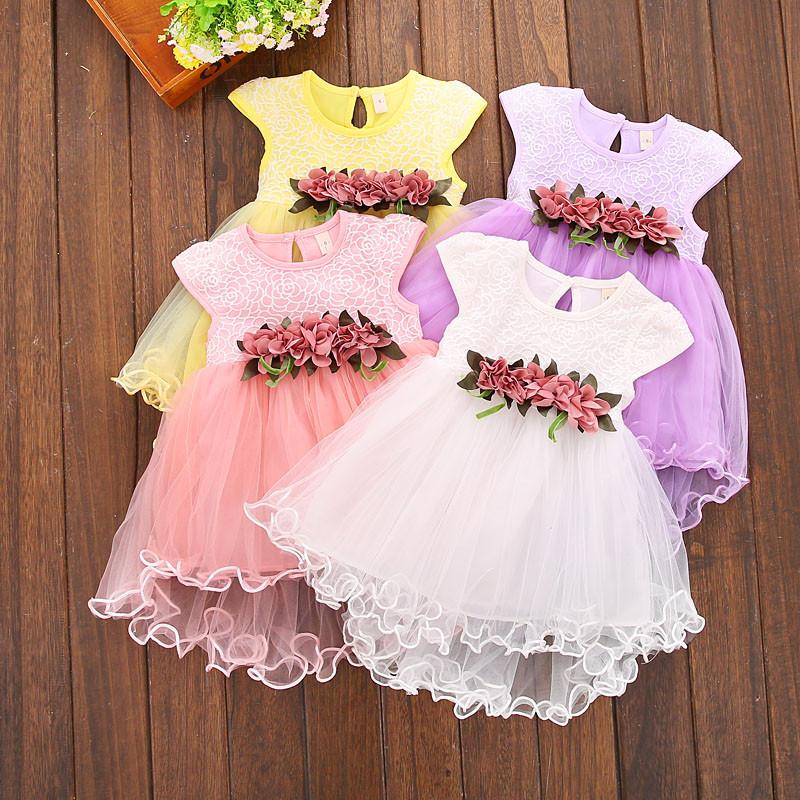 b18d7d93605c6a Літнє нарядне плаття для дівчаток-немовлят - Інтернет-магазин дитячого та  жіночого одягу