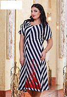 Платье из плотной турецкой вискозы батал  р7573, фото 1