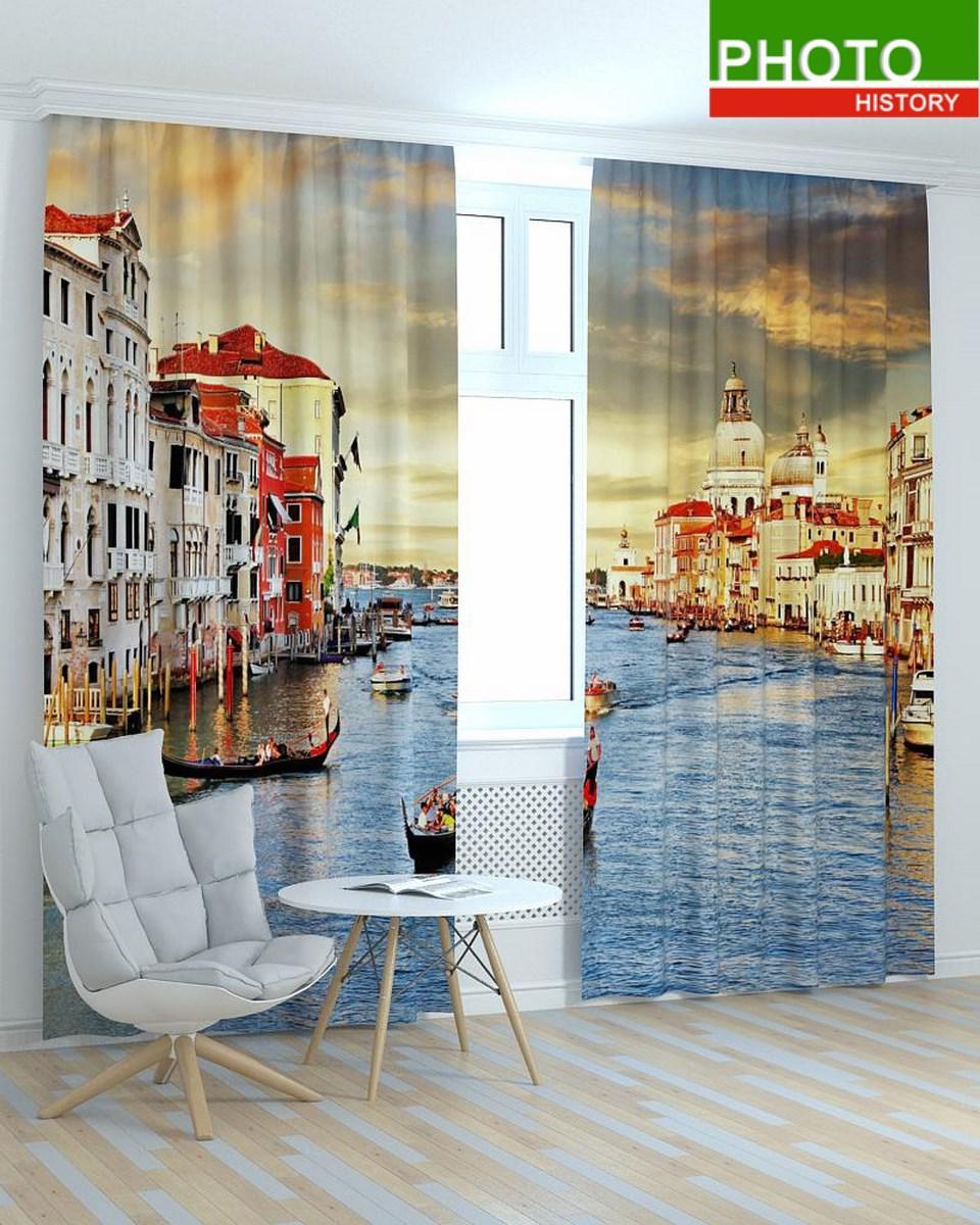 Фотошторы города закат в Венеции