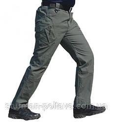 Штани чоловічі тактичні Urban Tactical міський стиль літні колір олива складу спандекс і бавовна