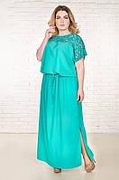 Платье длинное большого размера Версаль, (5 цв), платье супербатал, длинное в пол платье, дропшиппинг, фото 1