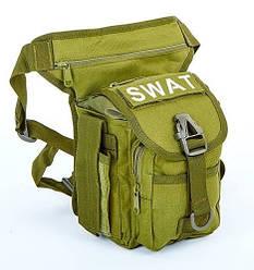 Сумка тактическая на бедро SWAT TY-229-O, цвет оливковый