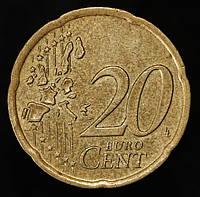 Монета Ирландии 20 евроцентов 2002 г.