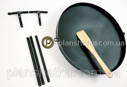 Сковорода из бороны съемные ножки и ручки 400 мм , фото 2