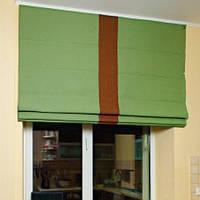 """Модель римских штор """"Лайн""""-крепление на стену"""