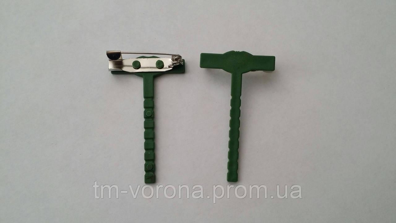 Основа для бутоньерки,  зеленая, 4.4 см