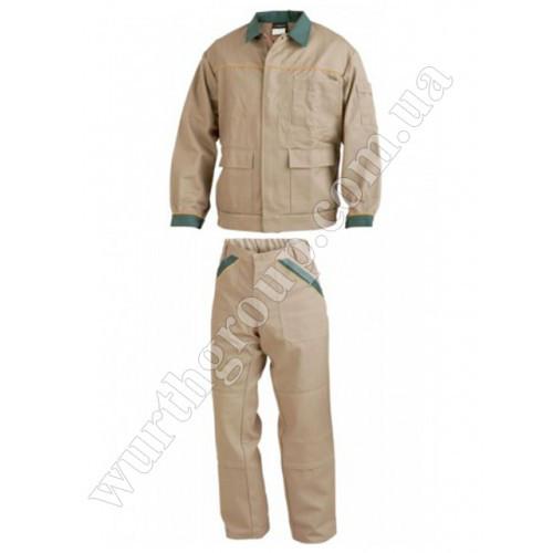 Комплект брюки и куртка бежевые ПЭ+ХБ Wurth