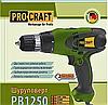 Шуруповерт PROCRAFT PB 1250