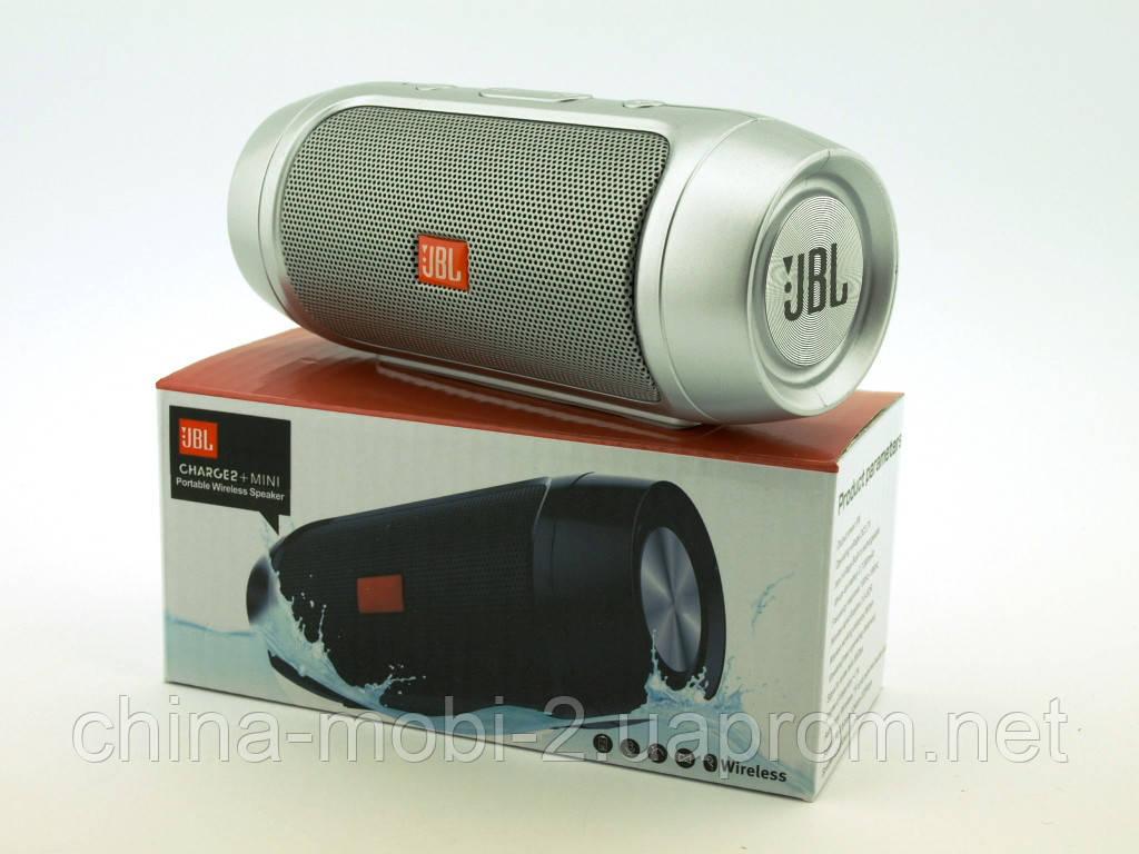 JBL Charge 2+ mini w2 копия, колонка 3W c блютузом MP3 FM, серебряная