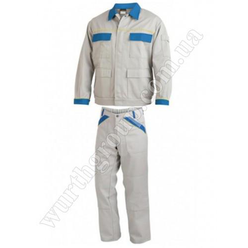 Комплект брюки и куртка светло-серые ПЭ+ХБ Wurth