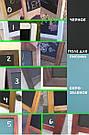 Меловая доска с полкой, доска-меню, 70 * 50 см., фото 5