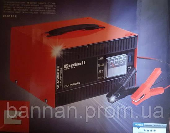 Einhell CC-BC 10 E Зарядное устройство, 10 А/12 В, от 5 А/ч-200 А/ч, фото 2