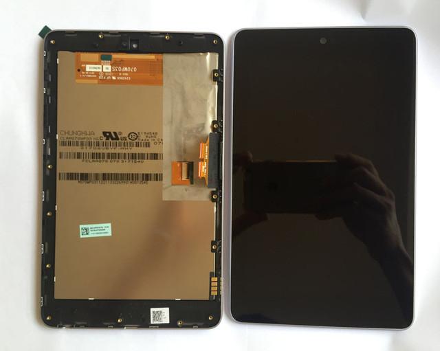 Дисплейний модуль для планшету ASUS Nexus 7 ME370T google в зборі з тачскріном чорний з рамкою