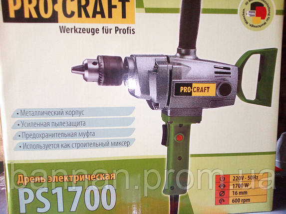 Дрель миксер Procraft PS 1700, фото 2