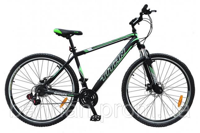 "Велосипед Titan Solar (2017)(29"")/ рама 20"" (black/green), фото 2"