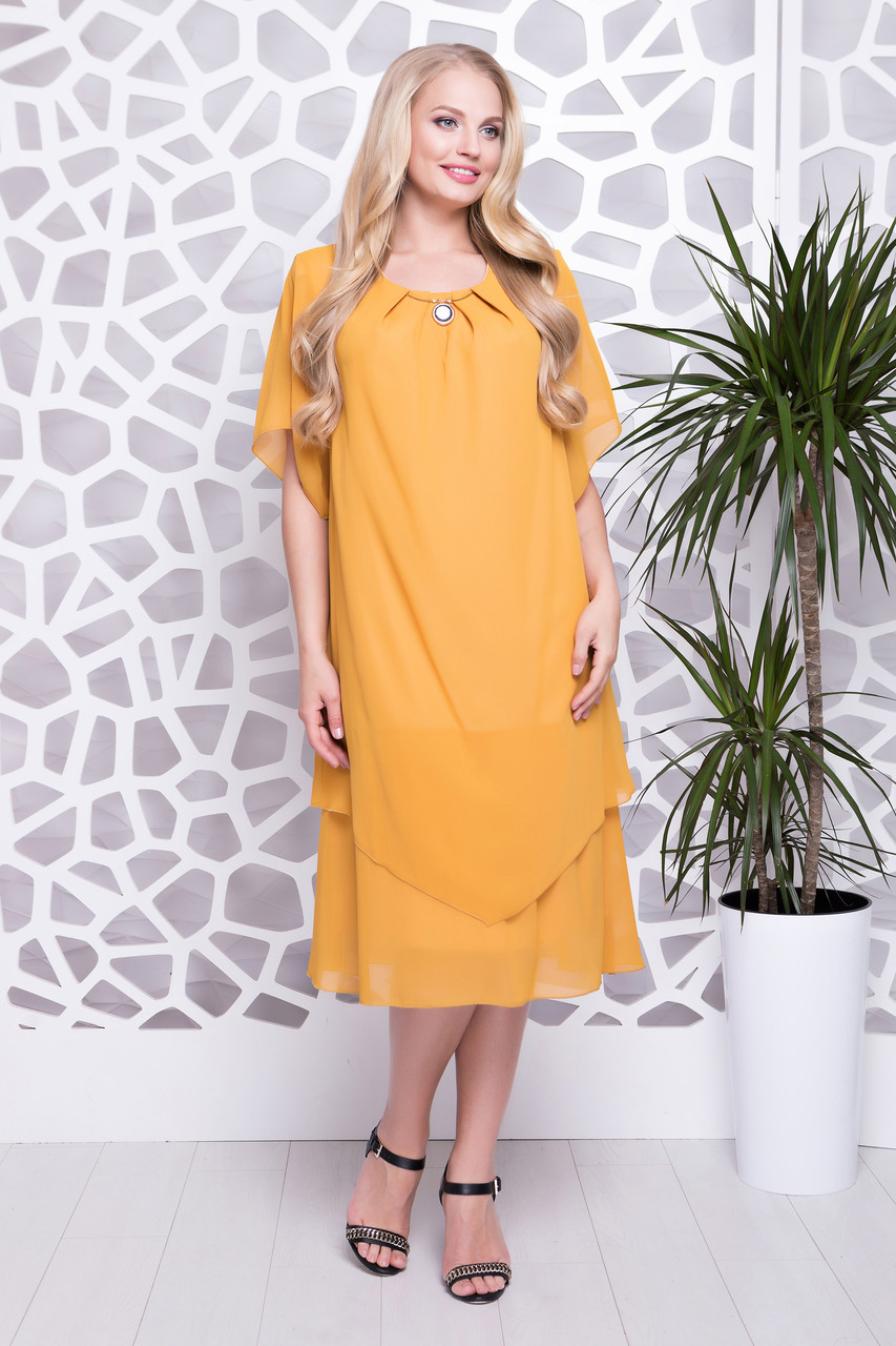 e65d4c23017 Купить Летнее шифоновое платье больших размеров 703128683 - Грация ...