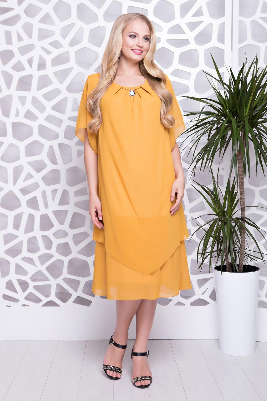 3616b267527 Летнее шифоновое платье больших размеров