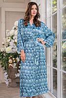 Удлиненный запашной халат Mia-Amore Venecia / Венеция 3249