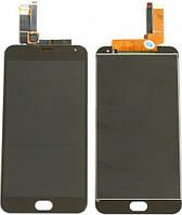Модуль для Meizu M2 Note (Дисплей + тачскрин), чёрный копия