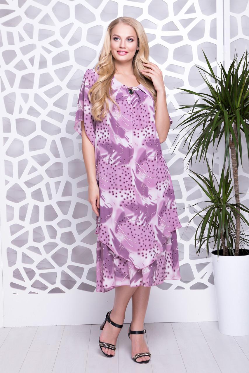 80260e6b95a Легкое шифоновое платье больших размеров