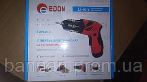 Отвертка аккумуляторная Edon EDRL01-4, фото 2