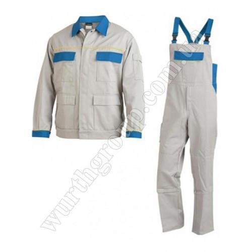 Комплект комбинезон и куртка светло-серые ПЭ+ХБ Wurth