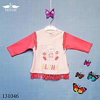"""Опт Детская футболка с длинным рукавом для новорожденных """"Aloha"""" Турция"""
