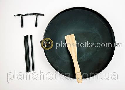 Сковорода из бороны 500 мм съемные ножки и ручки, фото 2