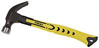 Молоток-гвоздодер 450г фиберглассовая ручка (магнит) Sigma