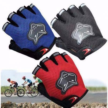Спортивные фитнес велоперчатки вело перчатки открытые велосипедные, фото 2