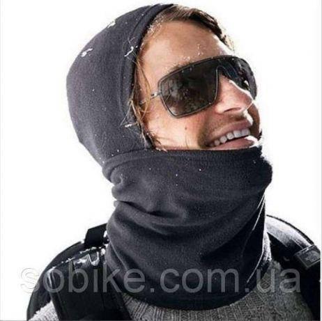 РАСПРОДАЖА Балаклава зимняя лыжная флисовая с затяжным карабином маска, фото 2