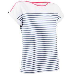 Koszulka żeglarska krótki rękaw Adventure 100 damska