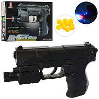 Пистолет на пульках, свет, лазерный прицел, 138D