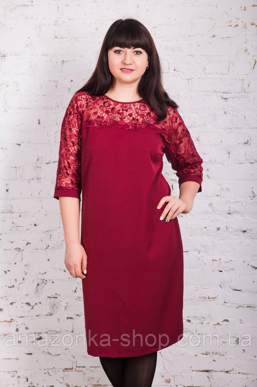 Вечернее платье для дам больших размеров 2018 - Код пл-235