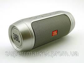 JBL Charge 2+ mini w2 копия, колонка 3W c блютузом MP3 FM, серебряная, фото 3