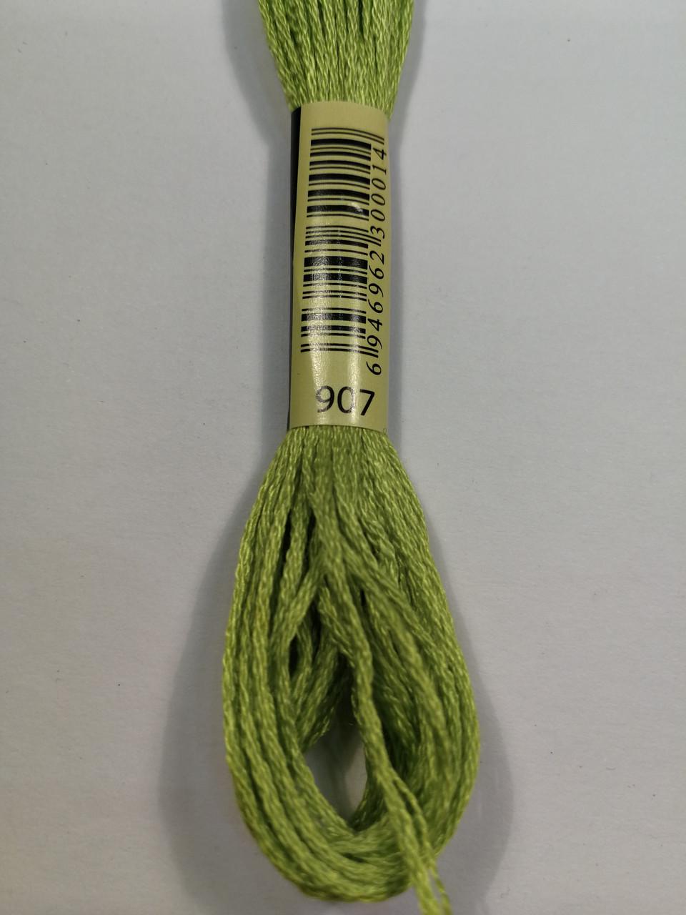 Мулине СХС 907 попугаевый зеленый светлый