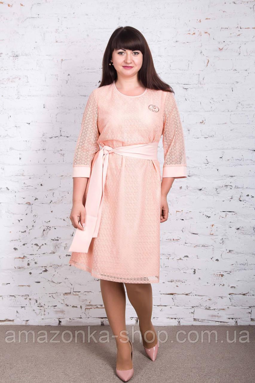Нежное платье для дам больших размеров 2018 - Код пл-238