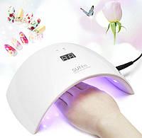 💋 Лампа Sun 9s для маникюра 24W гибрид для ногтей гель лака UV LED — белая оригинал сушка для ногтей 🎈